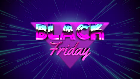 Animation-intro-text-Black-Friday-and-retro-abstract-triangles-retro-background-2