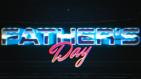 Animation-intro-text-Fathers-day-and-noise-lines-in-galaxy-retro-holiday-background