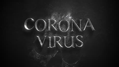 Animated-closeup-text-Coronavirus-and-mystical-horror-background-with-dark-skull-1