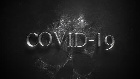 Animated-closeup-text-Covid19-and-mystical-horror-background-with-dark-skulle