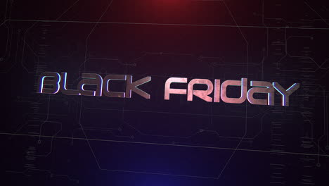 Animation-intro-text-Black-Friday-and-cyberpunk-animation-background-with-computer-matrix-and-grid