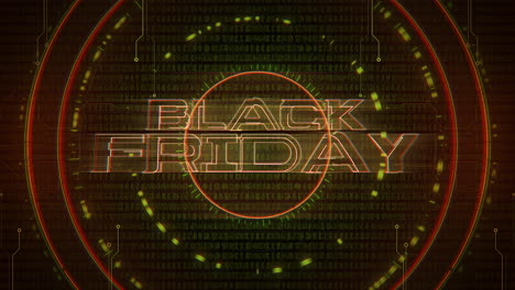 Animation-text-Black-Friday-and-cyberpunk-animation-background-with-computer-matrix-numbers-and-circles