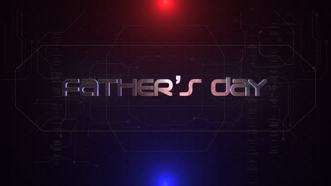 Animation-text-Fathers-day-and-cyberpunk-animation-background-with-computer-matrix-and-grid