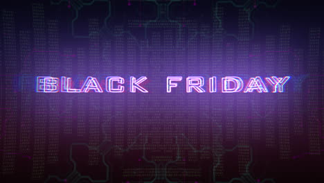 Animation-intro-text-Black-Friday-and-cyberpunk-animation-background-with-computer-matrix-numbers-and-grid-1