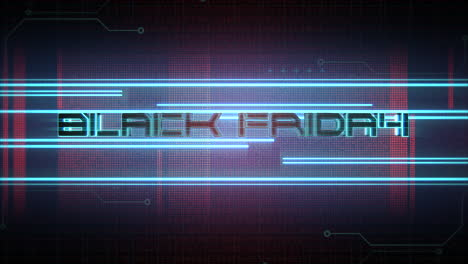 Animation-intro-text-Black-Friday-and-cyberpunk-animation-background-with-neon-lines-and-matrix-grid-1