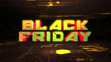 Animation-intro-text-Black-Friday-and-cyberpunk-animation-background-with-computer-chip