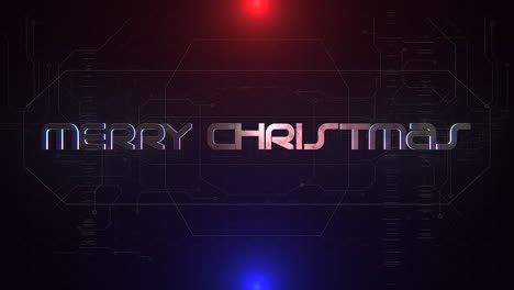 Animation-text-Merry-Christmas-and-cyberpunk-animation-background-with-computer-matrix-and-neon-lines