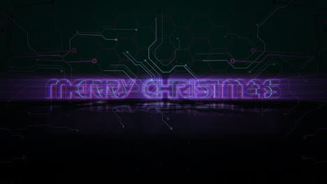 Animation-intro-text-Merry-Christmas-and-cyberpunk-animation-background-with-computer-chip-and-neon-lights-1