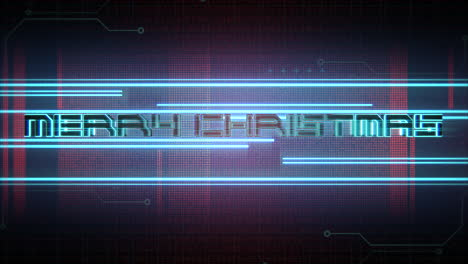 Animation-text-Merry-Christmas-and-cyberpunk-animation-background-with-computer-matrix-and-neon-lines-1