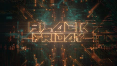 Animation-intro-text-Black-Friday-and-cyberpunk-animation-background-with-computer-chip-1