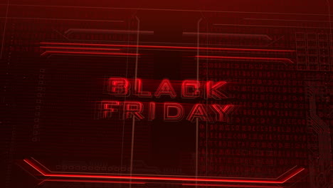 Animation-intro-text-Black-Friday-and-cyberpunk-animation-background-with-computer-matrix-numbers-and-grid-2