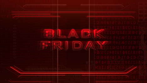 Animation-intro-text-Black-Friday-and-cyberpunk-animation-background-with-computer-matrix-numbers-and-grid-3