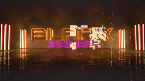 Animation-intro-text-Black-Friday-and-cyberpunk-animation-background-with-neon-lights