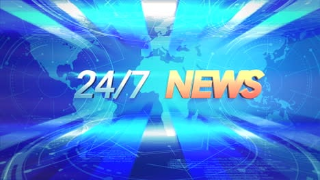 Animation-text-24-News-and-news-intro-graphic-with-blue-lines-and-world-map-in-studio