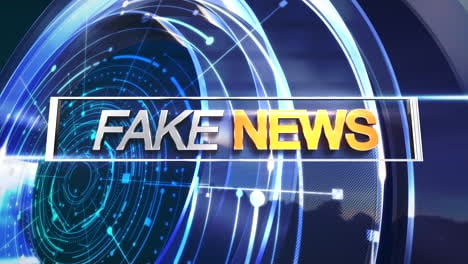 Animation-text-Fake-News-and-news-intro-graphic-with-blue-circular-shapes-in-studio