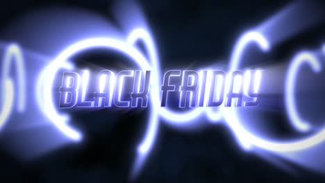 Animation-intro-text-Black-Friday-and-motion-blue-neon-circles-abstract-background