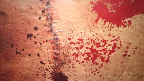 Animación-De-Fondo-De-Terror-Místico-Con-Sangre-Oscura-Y-Manchas.