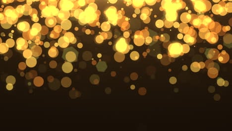 Fly-yellow-and-gold-bokeh-with-glitter-in-night-sky-Happy-New-Year-and-Merry-Christmas-shiny-background