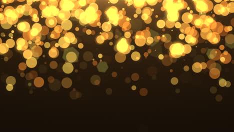 Volar-Bokeh-Amarillo-Y-Dorado-Con-Brillo-En-El-Cielo-Nocturno-Feliz-Año-Nuevo-Y-Feliz-Navidad-Fondo-Brillante