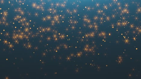 Animation-fly-gold-abstract-bokeh-glitter-with-stars-in-night-sky-Happy-New-Year-and-Merry-Christmas-shiny-background