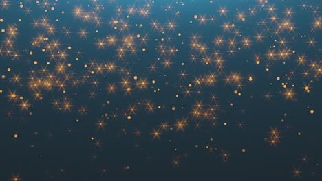 Animación-Volar-Oro-Abstracto-Bokeh-Brillo-Con-Estrellas-En-El-Cielo-Nocturno-Feliz-Año-Nuevo-Y-Feliz-Navidad-Fondo-Brillante
