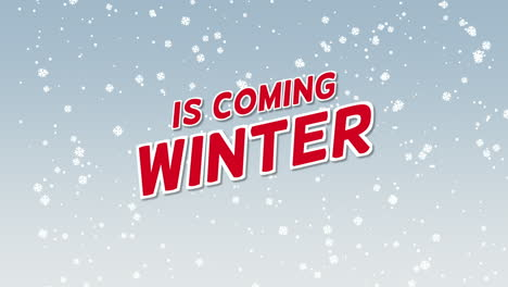 Animated-closeup-Winter-is-Coming-text-and-winter-landscape-with-snow-on-holiday-background