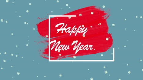 Animated-closeup-Happy-New-Year-text-and-winter-landscape-with-snow-on-holiday-background-1