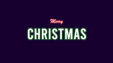 Animated-closeup-Merry-Christmas-text-with-Christmas-tree-and-stars-on-winter-holiday-background