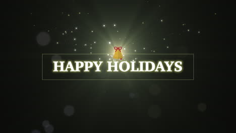 Animated-closeup-Happy-Holidays-text-with-Christmas-gift-on-winter-holiday-background