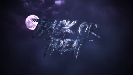 Animation-text-Trick-or-Treat-and-mystical-animation-halloween-background-with-dark-moon-and-clouds