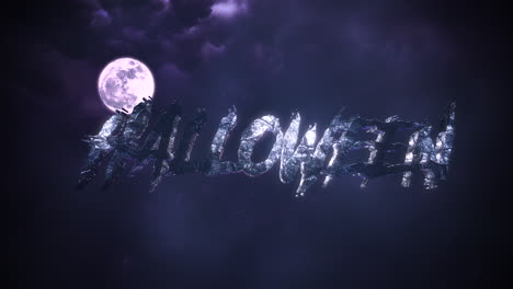 Animation-text-Halloween-and-mystical-animation-halloween-background-with-dark-moon-and-clouds
