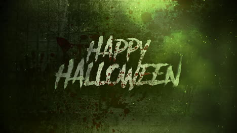 Animation-text-Happy-Halloween-on-mystical-on-mystical-horror-background-with-dark-blood-and-motion-camera