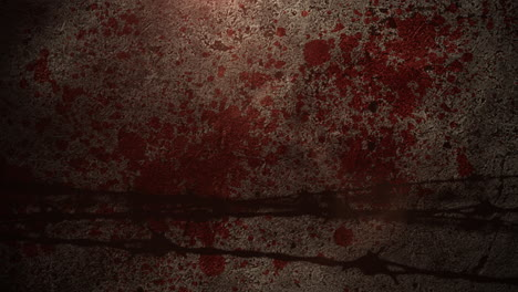 Cinematic-background-with-motion-camera-and-blood-on-wall
