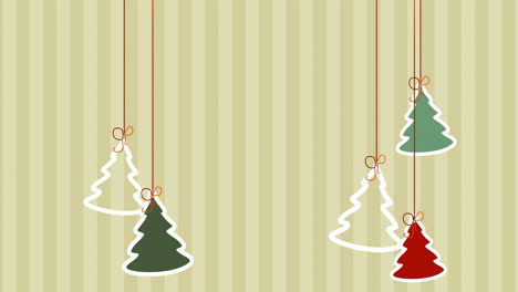Animated-closeup-Christmas-trees-on-winter-holiday-background