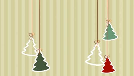 Primer-Plano-Animado-árboles-De-Navidad-Sobre-Fondo-De-Vacaciones-De-Invierno
