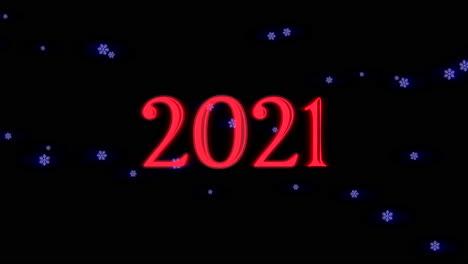 Primer-Plano-Animado-2021-Texto-Y-Copos-De-Nieve-Azules-Volando-Sobre-Fondo-De-Vacaciones-1