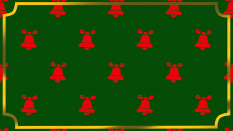 Animated-closeup-bells-with-gold-frame-on-holiday-background