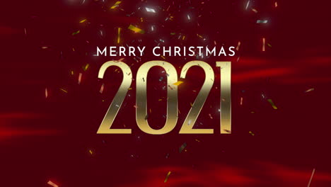 Animated-closeup-2021-and-Merry-Christmas-text-with-fly-confetti-and-glitter-on-red-holiday-background