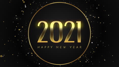 Animated-closeup-2021-and-Happy-New-Year-text-with-fly-gold-snowflakes-and-glitter-on-holiday-background