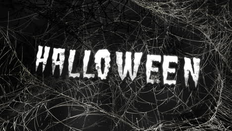 Animation-text-Halloween-and-mystical-horror-background-with-dark-spiderweb-1