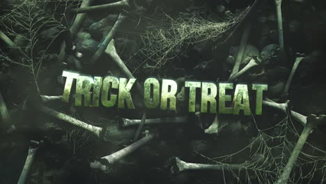 Animation-text-Trick-ad-Treat-on-mystical-horror-background-with-dark-bones