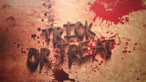 Animation-text-Trick-ad-Treat-and-mystical-horror-background-with-dark-blood