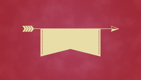 Animated-closeup-motion-arrow-and-ribbon-on-Valentines-day-background