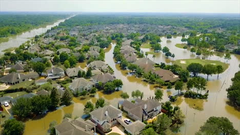 An-Aerial-Over-The-Flooding-And-Destruction-In-Houston-From-Hurricane-Harvey