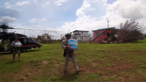 Water-And-Relief-Supplies-Are-Delivered-To-Victims-Of-Hurricane-Maria-In-Puerto-Rico