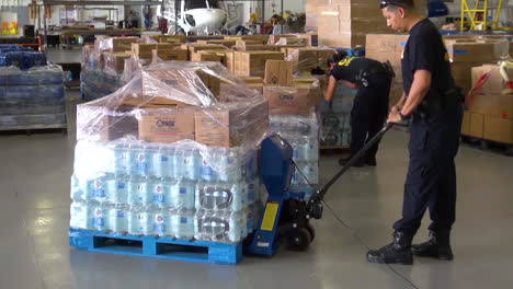 Water-And-Relief-Supplies-Are-Delivered-To-Victims-Of-Hurricane-Maria-In-Puerto-Rico-By-The-Us-Customs-And-Border-Patrol