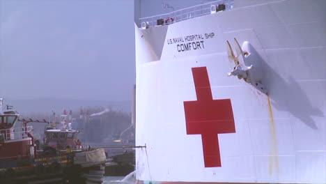Us-Red-Cross-Navy-Ship-Comfort-Docks-In-San-Juan-Puerto-Rico-During-Emergency-Relief-Efforts-From-Hurricane-Maria