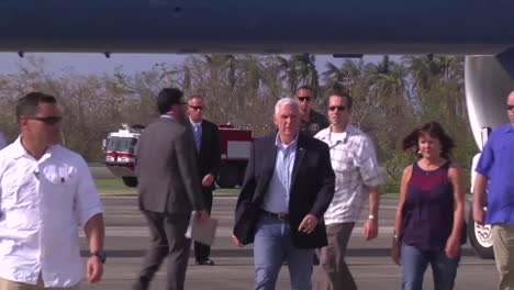 Vice-President-Mike-Pence-Visits-Puerto-Rico-After-The-Hurricane-Maria-Disaster