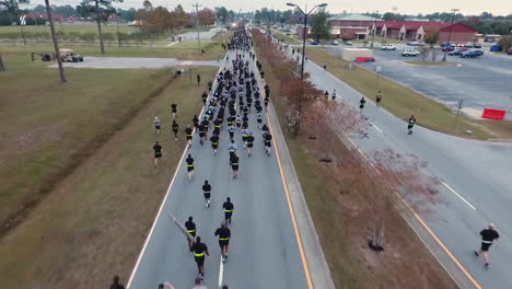 Aerial-Over-Us-Army-Recruits-Jogging-Down-A-Road-During-Basic-Training-3