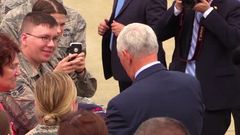 Vice-President-Mike-Pence-Greets-Soldiers-At-A-Military-Base-In-2017